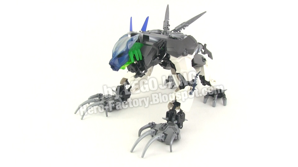 Hero Factory Brain Attack Moc Steelwolf Plus Bonus