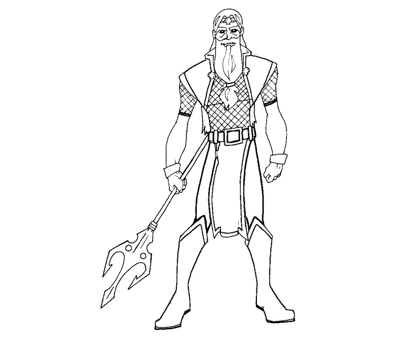 Greek God Poseidon Coloring Pages Poseidon Coloring Pages