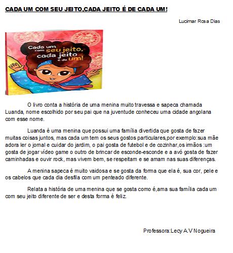 068f09bcfb9 Resenha (livro) Lucimar Rosa Dias. Cada um com seu jeito ...