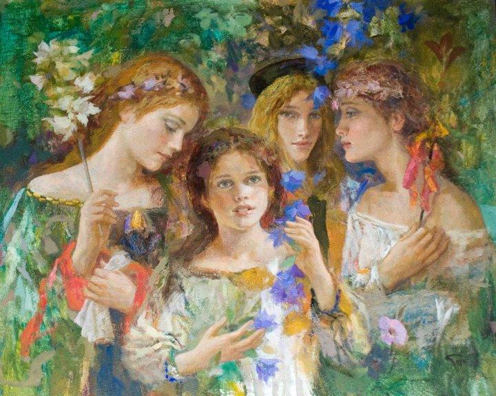 Goyo Dominguez 1960   Spanish-born British Romantic Realist painter