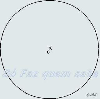 Circunferência de centro C e raio qualquer