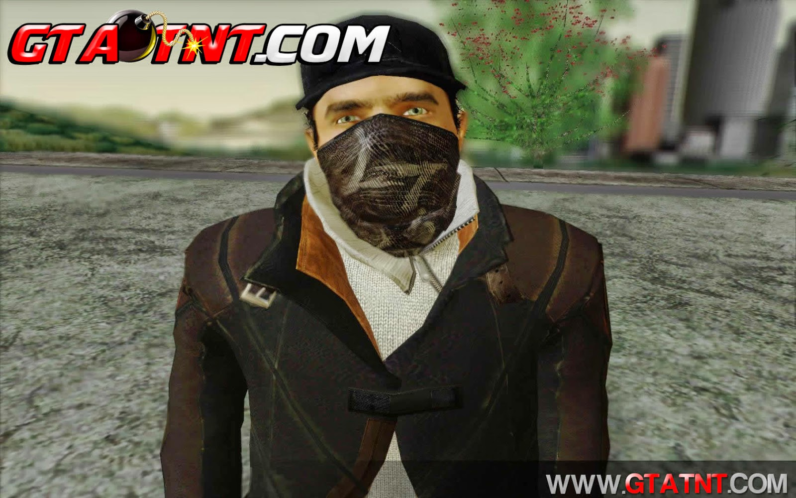 Skin do Aiden Pearce Watch Dogs para GTA San Andreas
