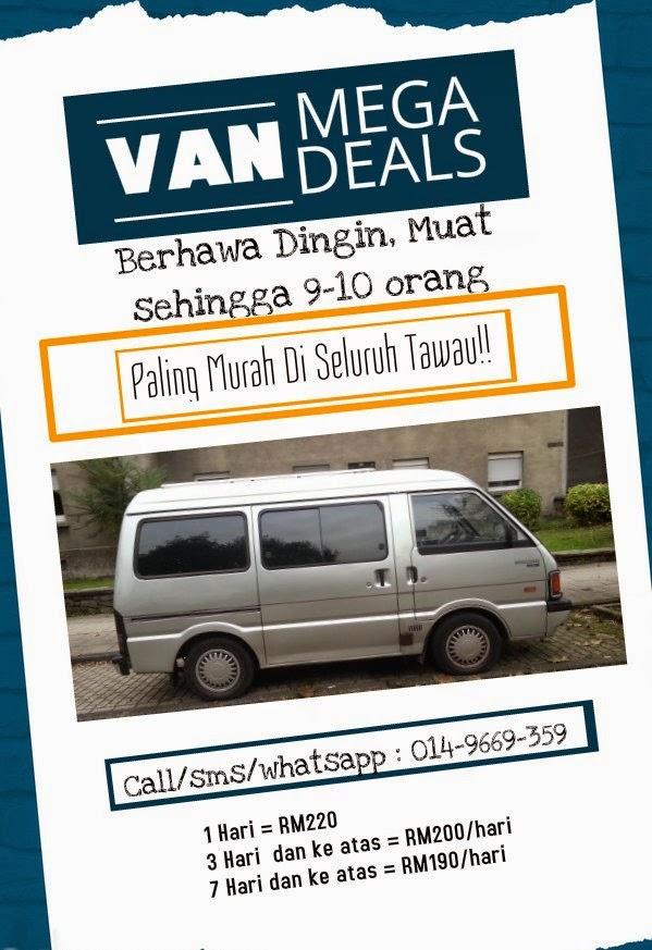 Van for hire at Kereta Sewa Tawau J3