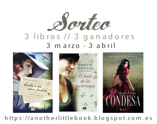 SORTEO // 3 libros, 3 ganadores