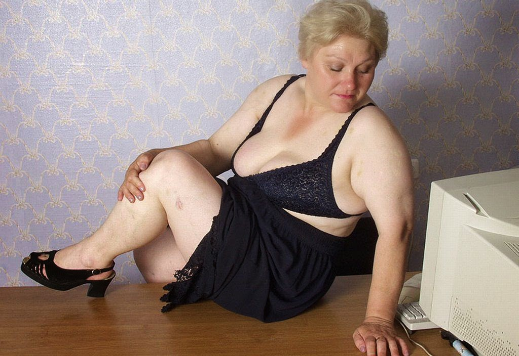blonde fat granny