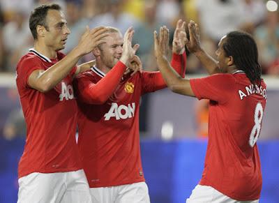 Rooney Berbatov Anderson Man Utd Tour USA