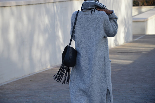 Blog mode afro, blog mode marseille, look, sac à franges, écharpe primark, gilet long new look