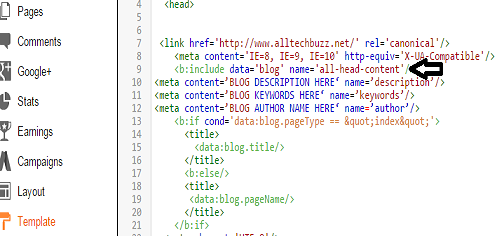 add meta tags the correct way in blogger