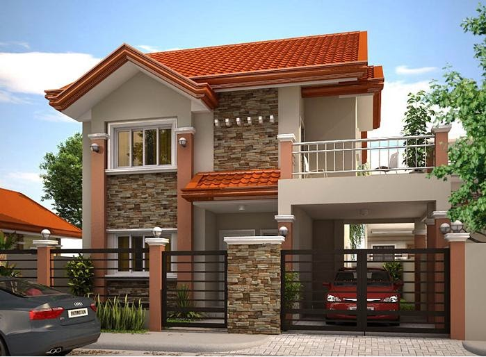 33 beautiful 2 storey house photos Small double story house designs