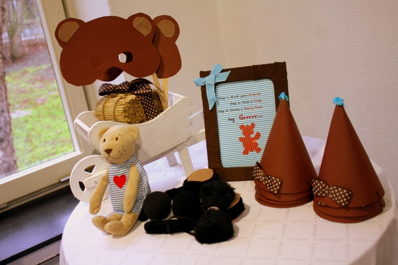 Teddy Bear party photo booth props