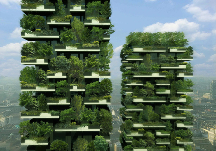La vie digitale the vertical forest in milan italy for Garden design milano