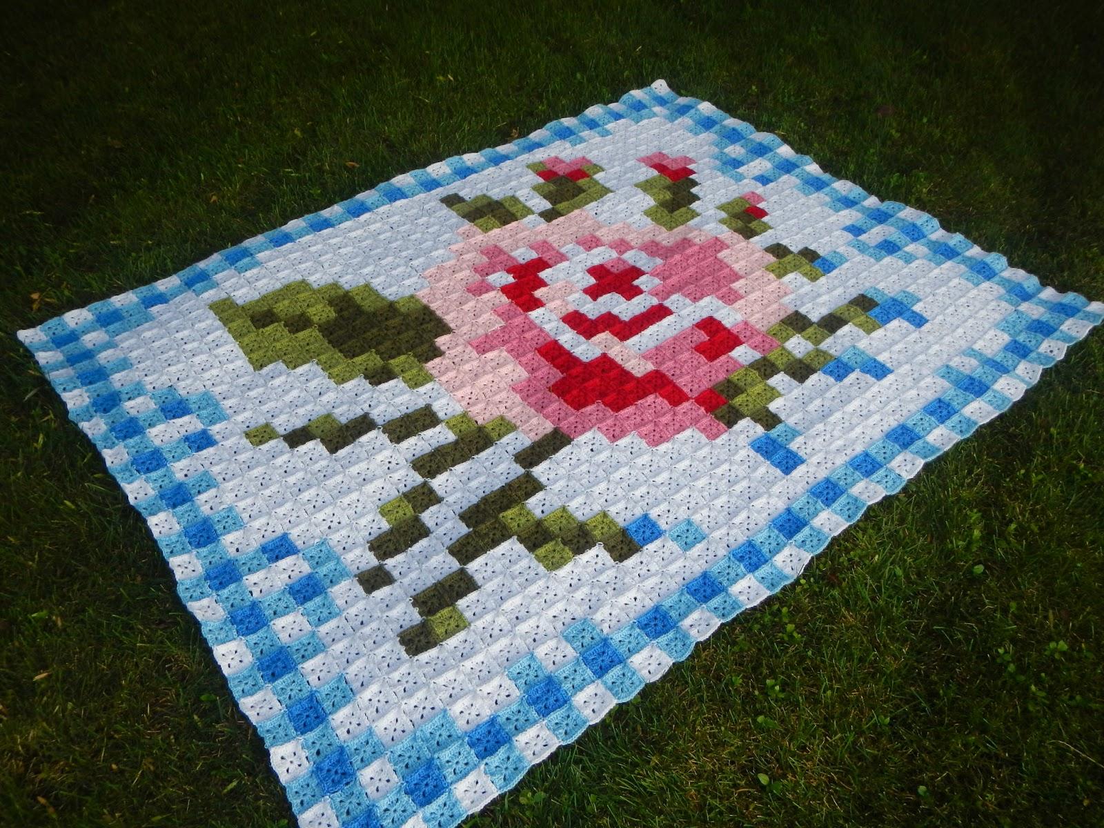 Apple Blossom Dreams: La Vie en Rose Afghan Finished and Pattern Listed!