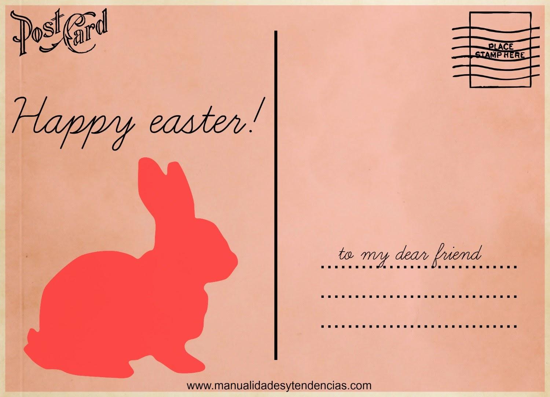 Tarjeta de Pascua imprimible gratuita