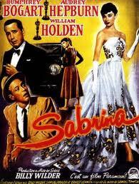 Cartel de la película Sabrina, con Audrey Hepburn y Humphrey Bogart