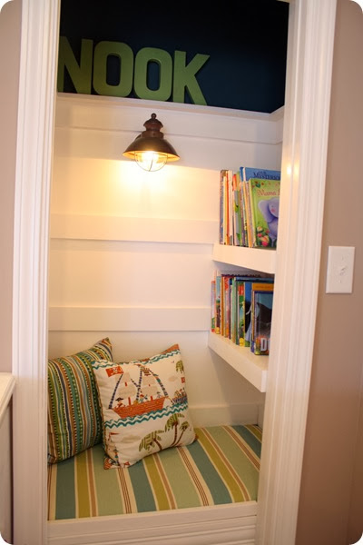 http://thriftydecorchick.blogspot.ca/2011/05/closet-turned-book-nook.html