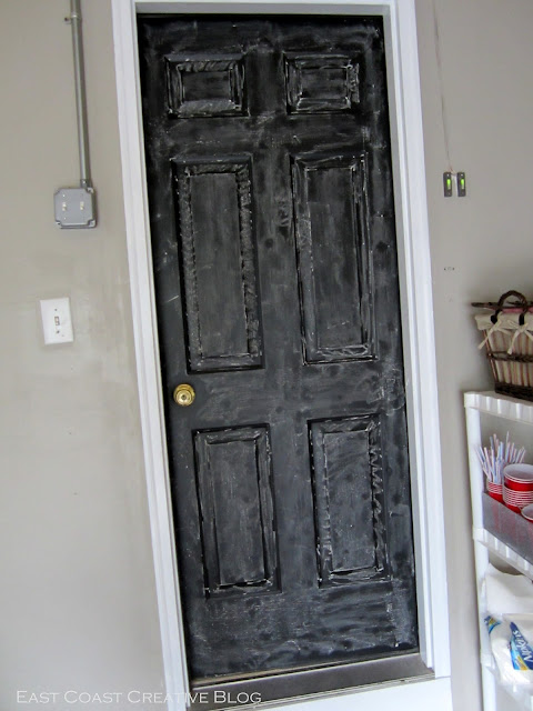 seasoned chalkboard door