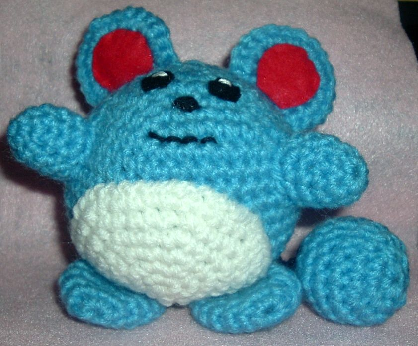Crochet Patterns Pokemon : 2000 Free Amigurumi Patterns: Marill Pokemon Crochet Pattern