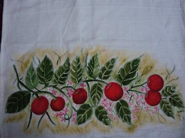Pintura em tecido (cerejas)
