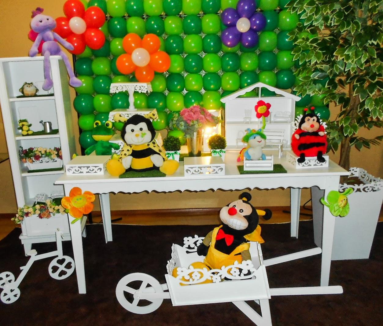 ideias de decoracao tema jardim:Uma fofura, com os bichinhos mais amados das crianças!