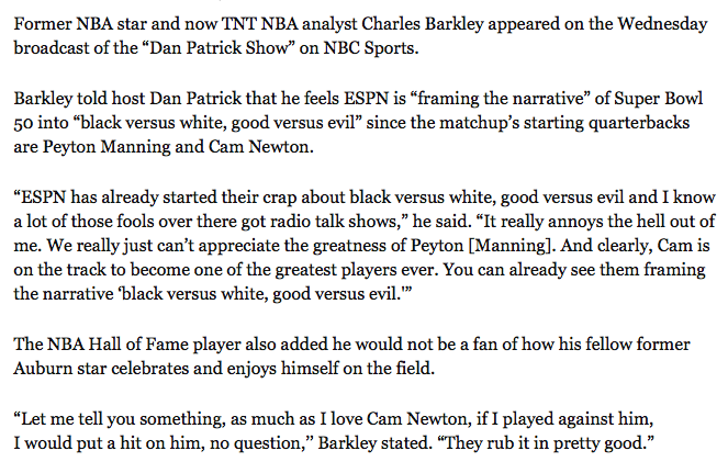 free to find truth: 33 59 74   Charles Barkley now contributing to ...