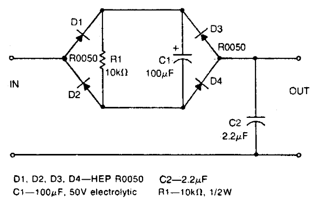 Simple Low-pass filter Circuit Diagram