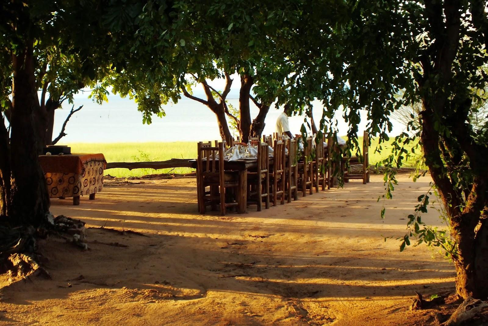 The dinner setting - Rhino Safari Camp