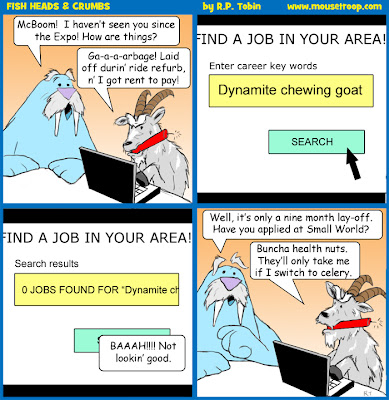 Disneyland comic Fish Crumbs Disney dynamite goat understudy