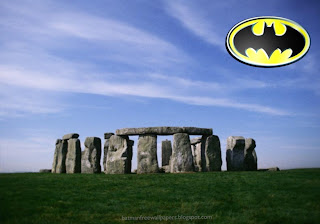 Wallpapers of Batman. Batman Logo Posters and Desktop Wallpaper in Stonehenge Stone Monument background