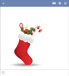 Christmas stocking for Facebook