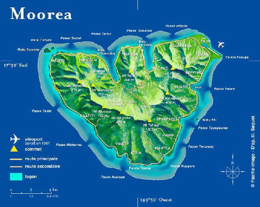 Tahiti, ses îles et autres bouts du monde: Moorea, the sister island