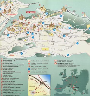 Mapa da cidade de San Marino