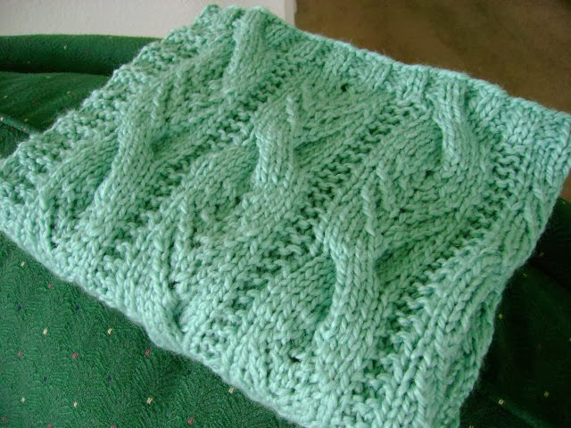 Knit Afghan Patterns Free : The Fuzzy Lounge: New FREE Knitting Pattern: Sweet Cables Baby Blanket
