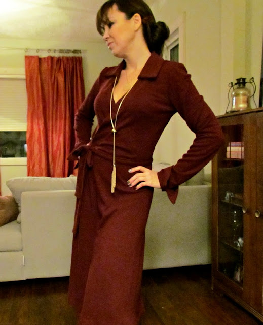 Wrap Dress, Simplicity 7705, Diane Von Furstenburg knockoff, designer knockoff