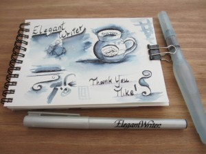 Watercolours by polly birchall 02 15 13 Elegant writer calligraphy pens