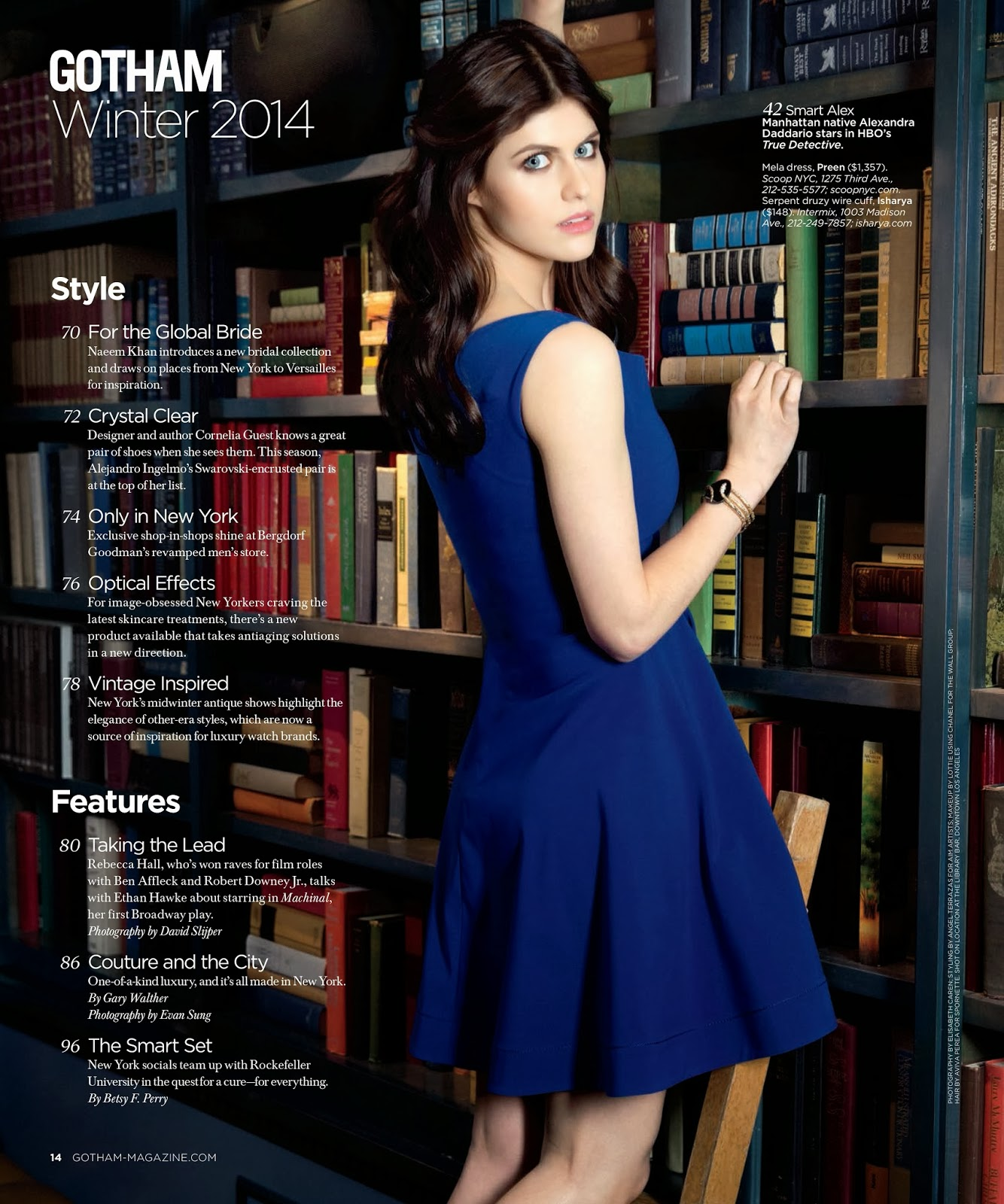 Magazine Photoshoot : Alexandra Daddario Photoshot For Gotham Magazine Winter 2014 Issue