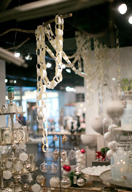Paper chains in the Accent Decor showroom