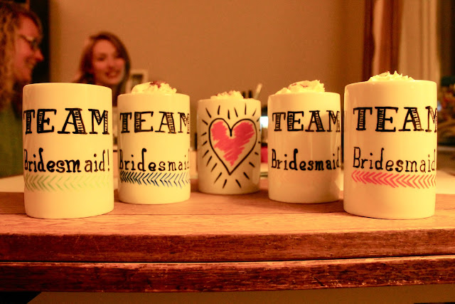 DIY Bridesmaid Mugs
