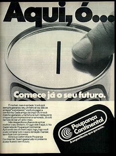 propaganda caderneta de poupança Continental  - 1979. anos 70. Oswaldo Hernandez. propaganda anos 70. Reclame anos 70