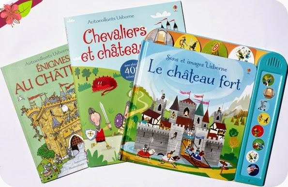 Enigmes au chateau, Chevaliers et châteaux et Le château fort - éditions Usborne