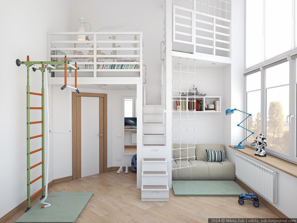 Hogar diez una habitaci n juvenil de altura for Se puede dividir un piso en dos