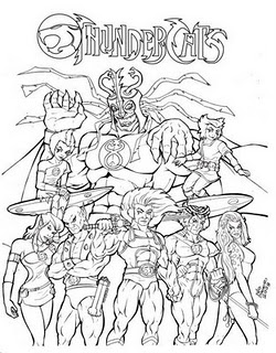thundercats 2011 coloring pages sketch coloring page