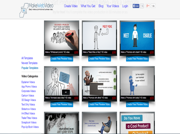 makewebvideo blogolect - create animated videos