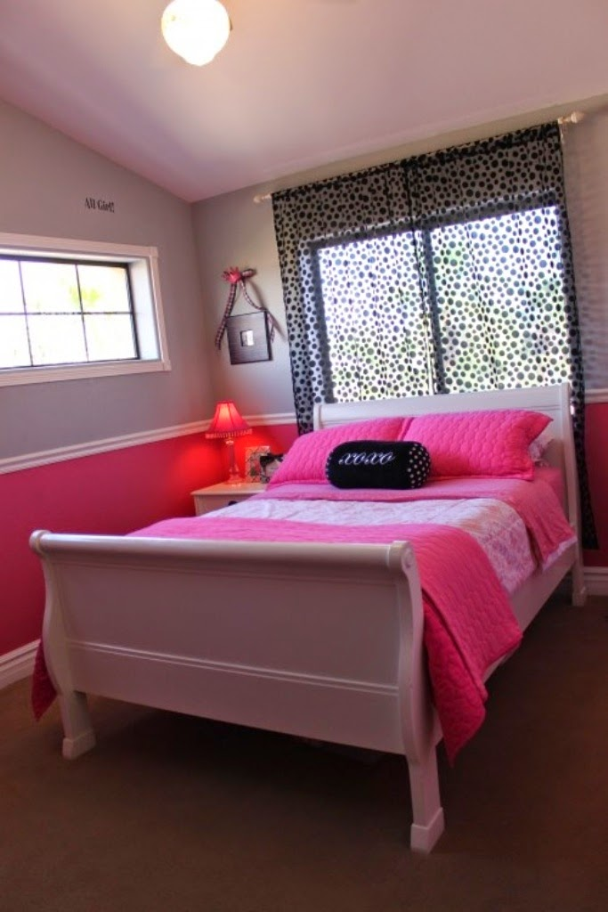 Girl bedroom ideas with chair rail