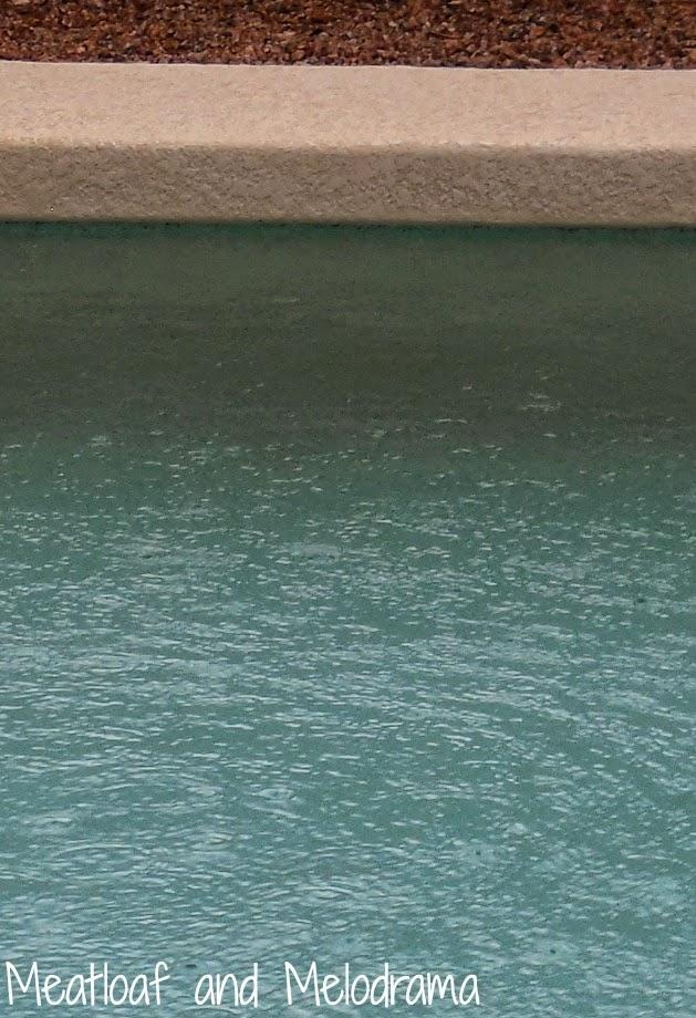 rain and pool water rising after arizona monsoon