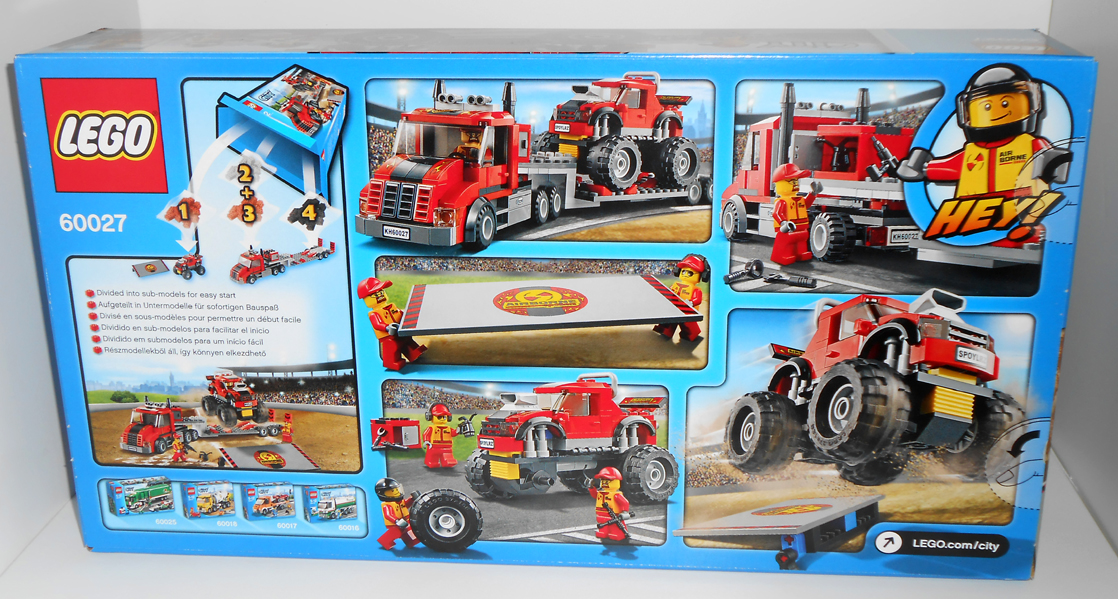 Oz Brick Nation: LEGO City 60027: Monster Truck Transporter Review