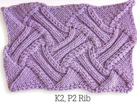 Cute Knitting Entrelac Knitting Pattern 9 Knit 2 Purl 2 Rib