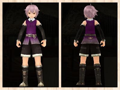 冒険者の服 紫色1 軽量化(男)