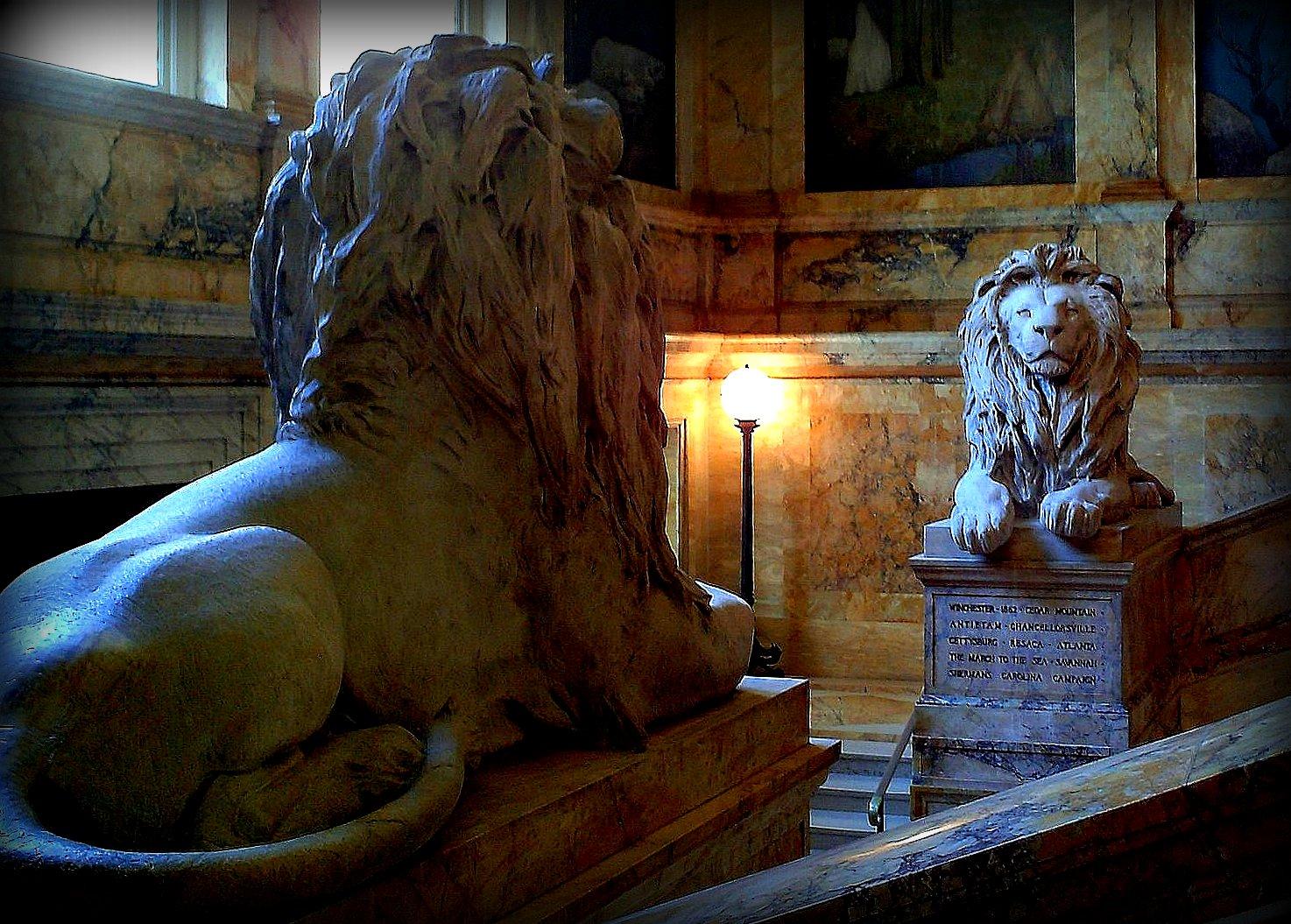 lions, library, boston, massachusetts, large