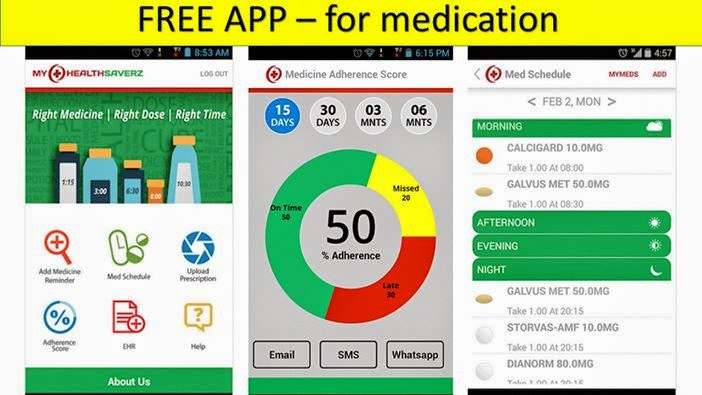 Free Mobile apps for Patients who forgets to take regular medications