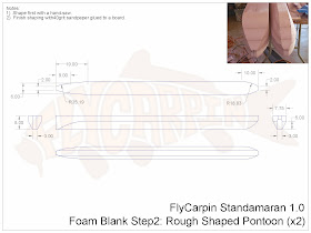 Standamaran SUP Plans Foam Blank Step 2